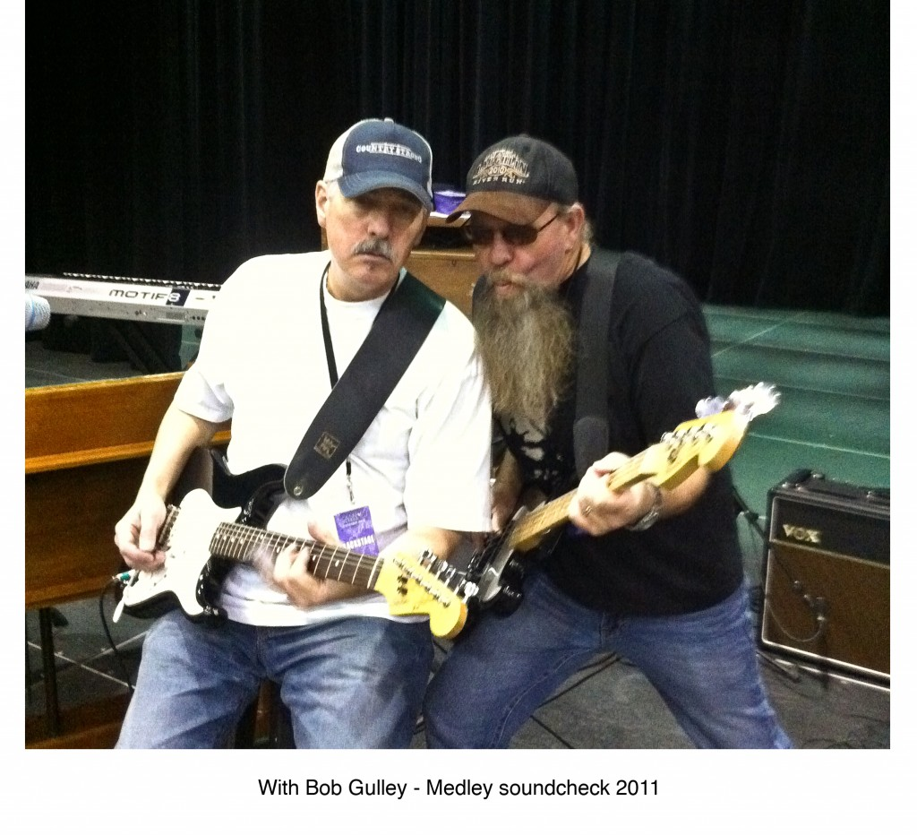 Larry with Bob Gulley - Medley soundcheck 2011